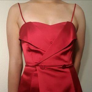 Zara red satin party dress